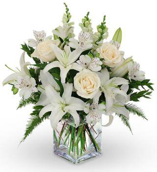 Lily and Rose Sympathy Vase