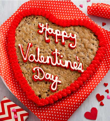 Mrs. Fields® Happy Valentine's Day Heart Shaped Cookie Cake