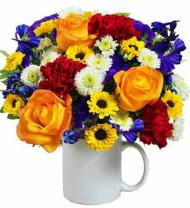 Mug of Blooms Bouquet