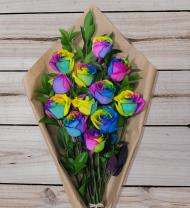 Rainbow Roses - Farm Fresh