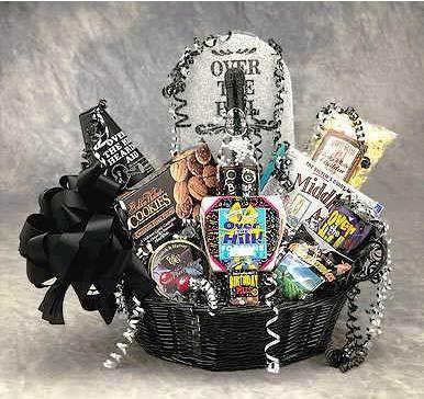 Flowers: Over The Hill Birthday Gift Basket