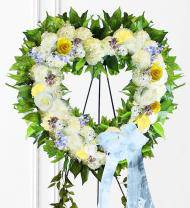 Pastel Sympathy Heart Wreath