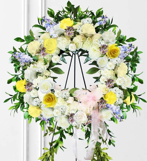 Pastel Sympathy Wreath