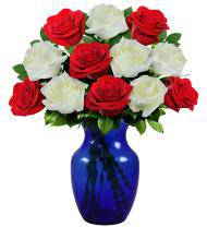 Patriotic & Pretty 4th of July Roses - Farm Fresh