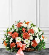 Peach & White Sympathy Fireside Basket
