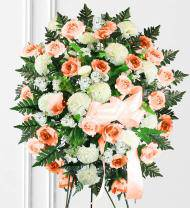 Peach & White Sympathy Spray