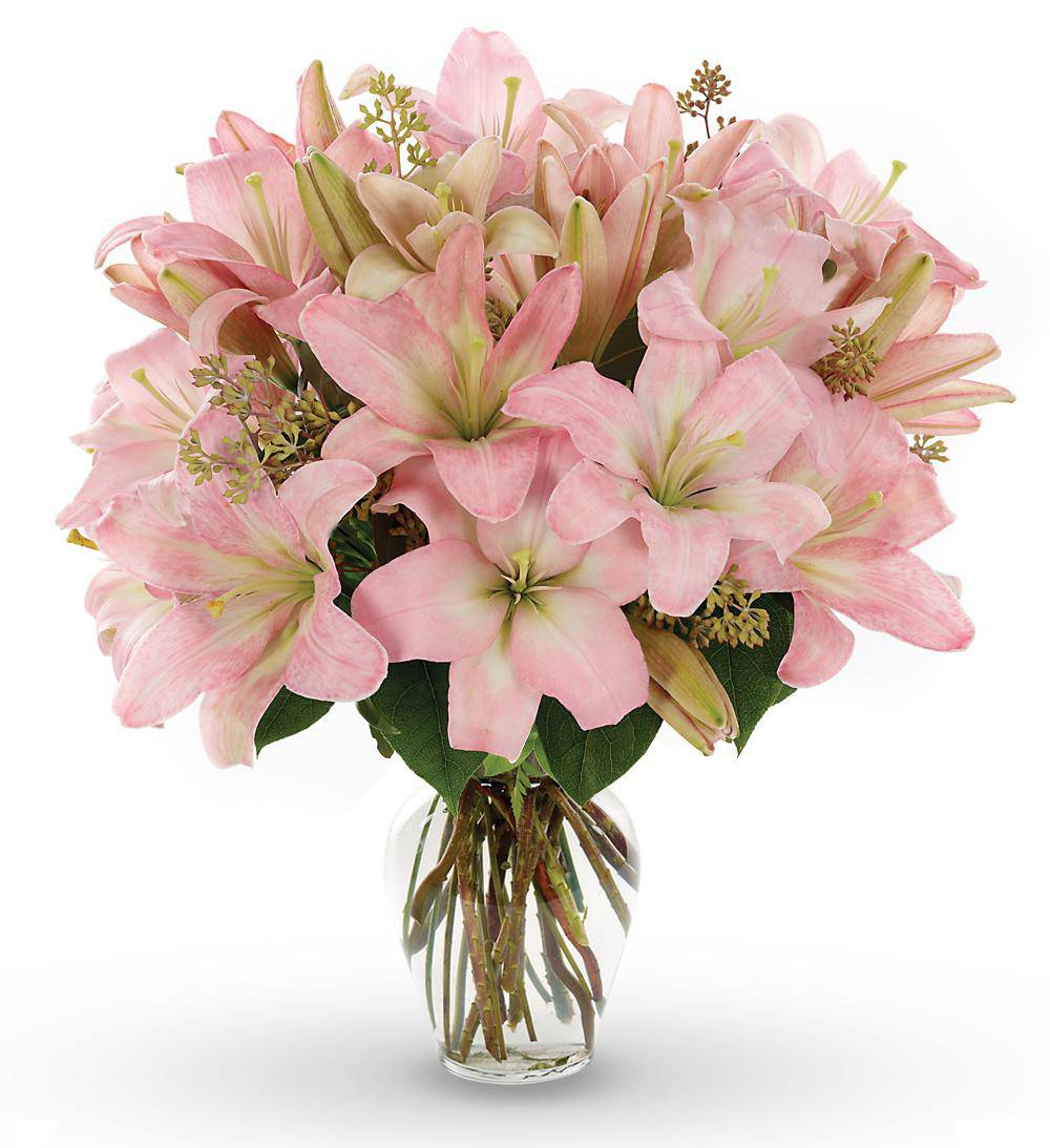Pink Lily Bouquet with Farm Fresh Flowers | Avas Flowers