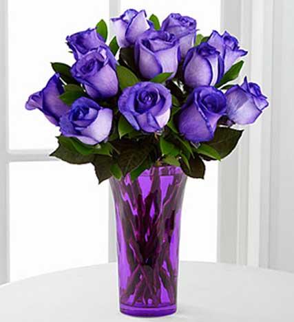 Popping Purple Fiesta Rose Bouquet