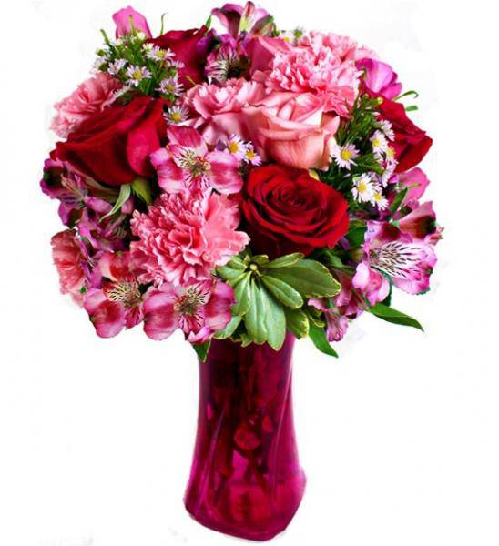 Flowers: Assorted Roses And Carnations - Deluxe