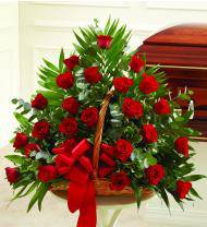 Red Sympathy Fireside Basket