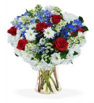 Red, White & Blue Sympathy Vase