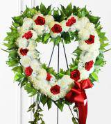 Red & White Heart Wreath