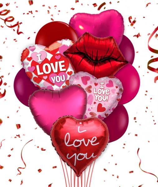 Flowers:_Romantic_Balloon_Bouquet_-_Six_Balloons