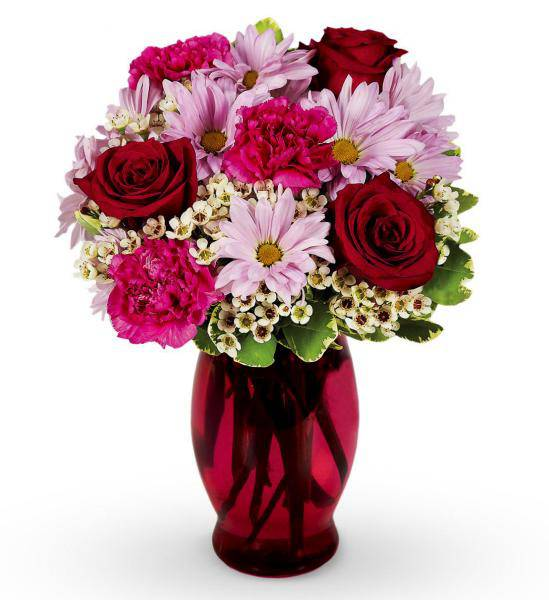 Flowers:_Mixed_Carnation,_Rose_And_Daisy_Bouquet_-_Standard