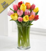Rush of Color Assorted Tulip Bouquet