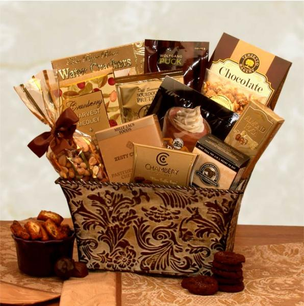 Flowers: Savory Sophistication Gourmet Gift Basket