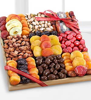 Season's Snacks Holiday Dried Fruit, Nuts & Sweets Tray