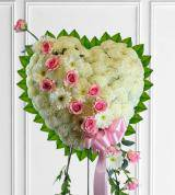Solid Sympathy Heart With Pink Break