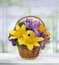 Spring Meadow Flower Basket