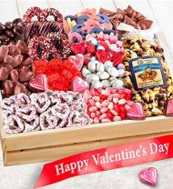 Sweet Them Off Their Feet Valentine Gourmet Basket