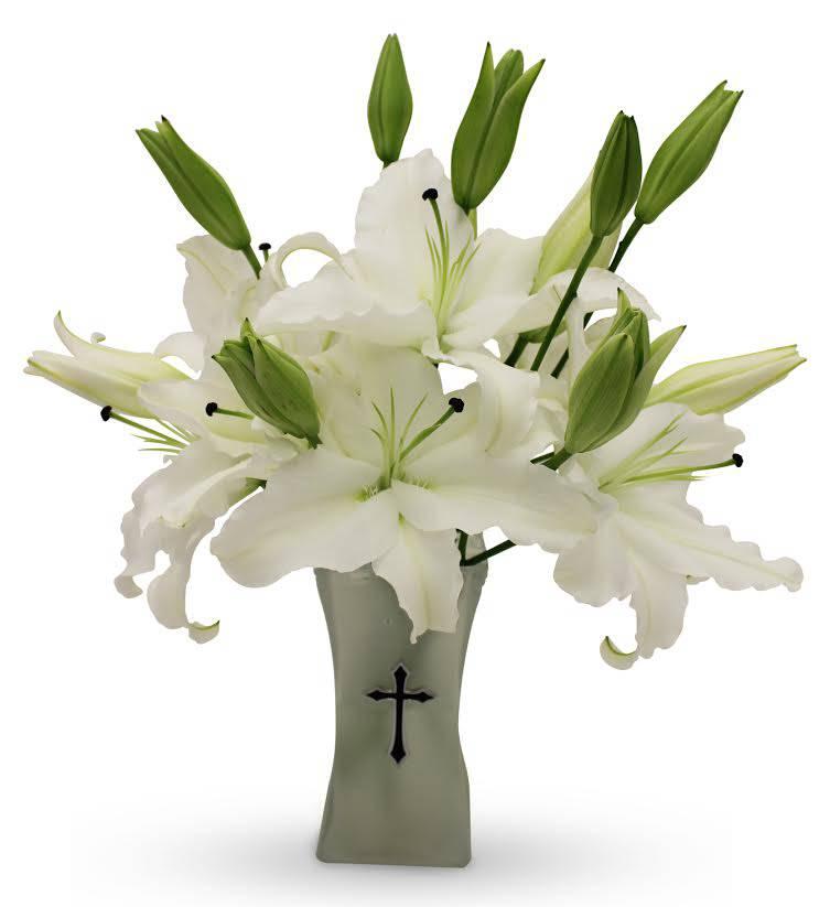 White Cross Bouquet