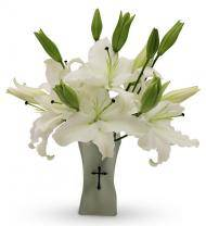 White Cross Bouquet