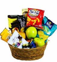 Sympathy Gourmet Fruit and Snack Basket