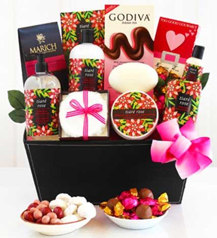 Tiaré Rose Spa Romantic Gift Basket