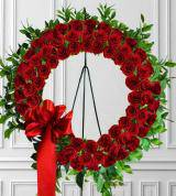 Timeless Red Rose Wreath
