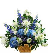 Traditional Blue and White Sympathy Basket