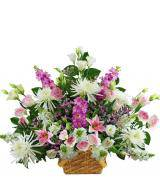 Traditional Pink and White Sympathy Basket