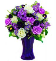 Vanessa's Vivid Violet and White Bouquet