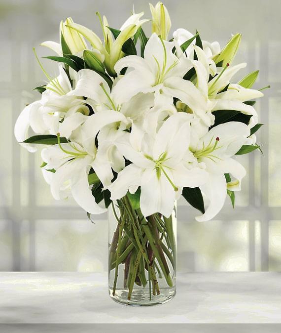 White Lilies Bouquet Avas Flowers