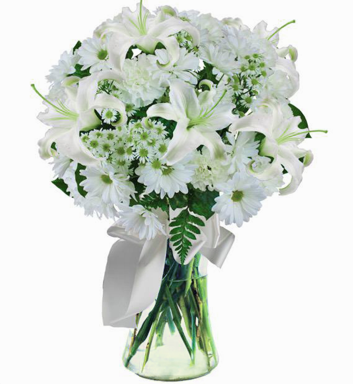 White Lily Sympathy Bouquet