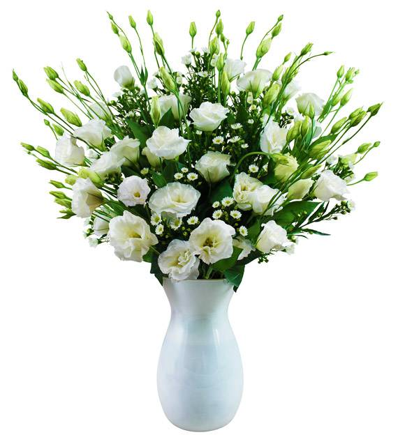 White Lisianthus Bouquet
