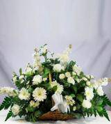 White Sympathy Fireside Basket
