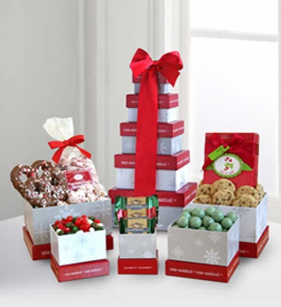 Winter Wonderland Holiday Treats Tower