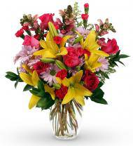 Yellow and Pink New Dream Bouquet