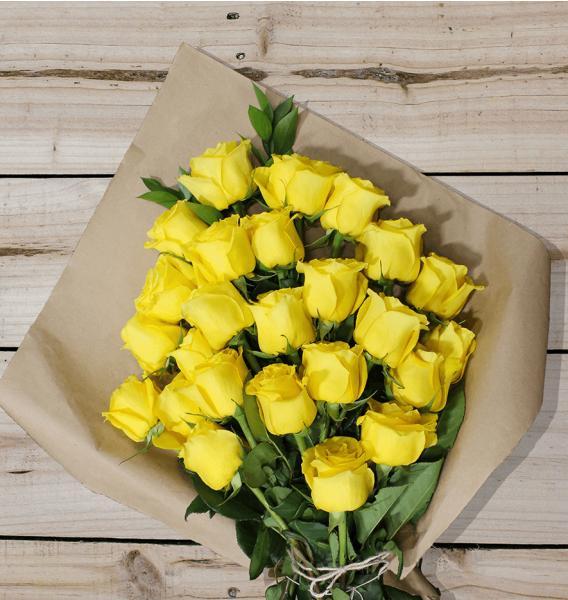 Flowers: Two Dozen Yellow Roses