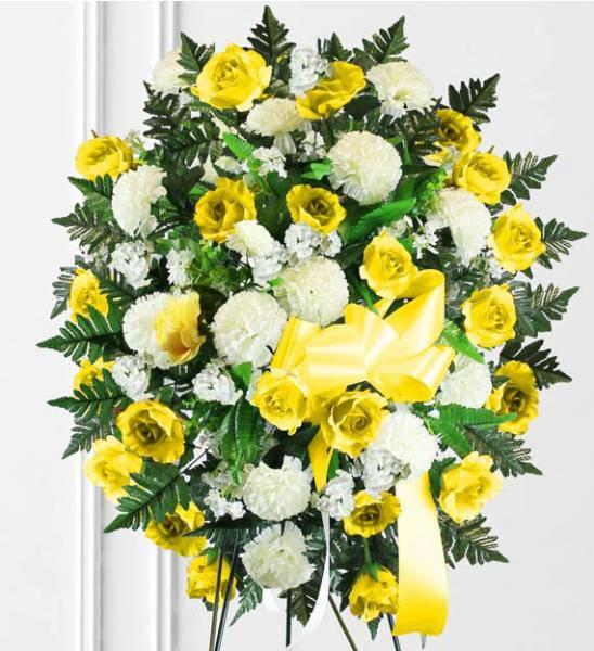 Flowers:_Yellow_Sympathy_Spray_-_Premium