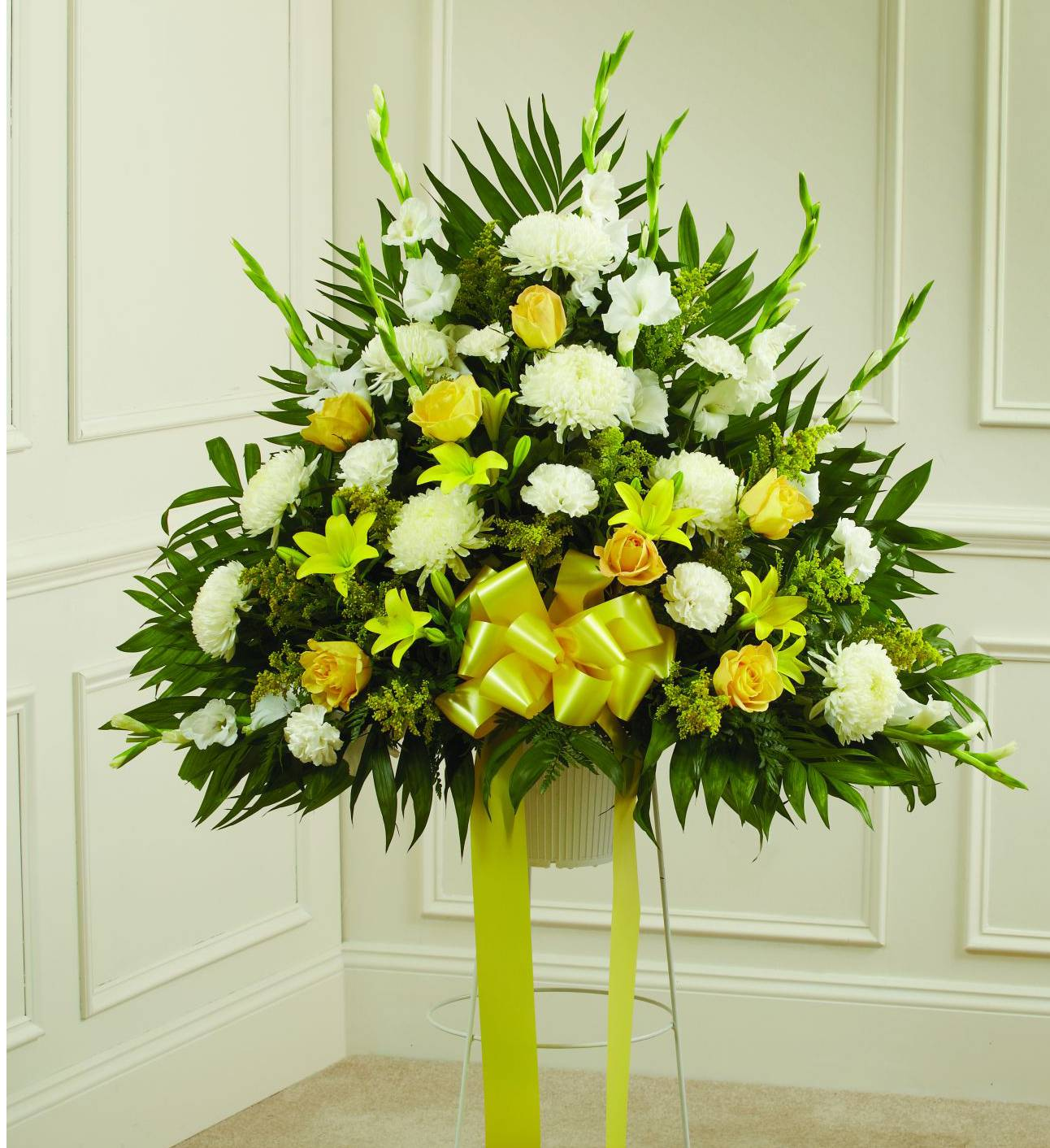 Yellow Sympathy Standing Basket