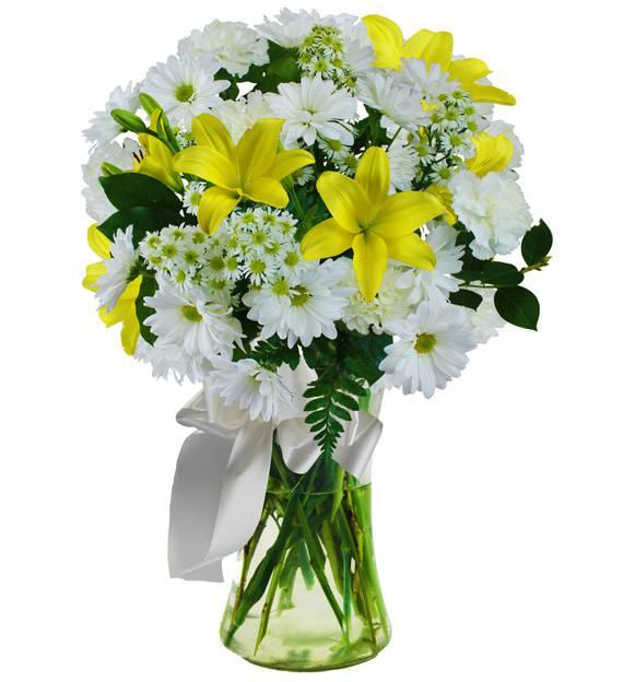 Yellow Sympathy Vase