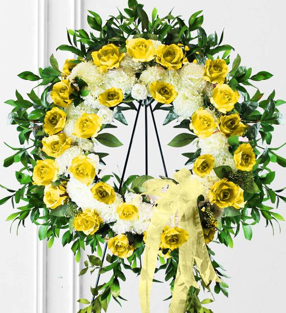Yellow Sympathy Wreath
