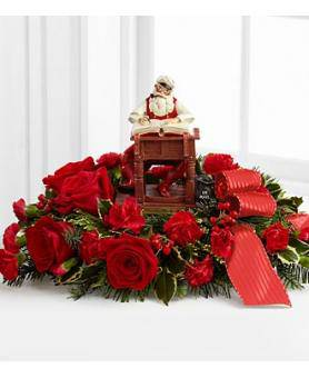FTD Norman Rockwell Christmas centerpiece